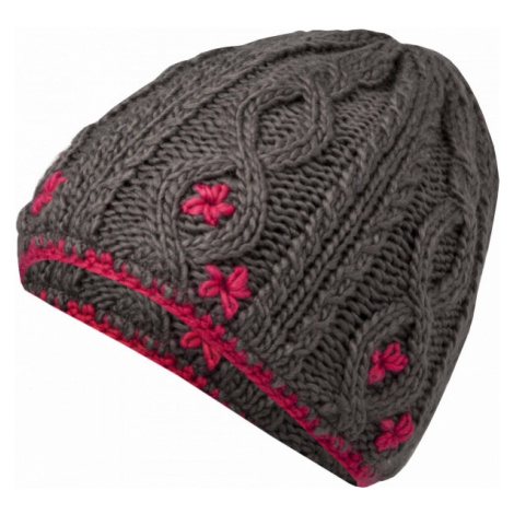 Lewro CARBINK grey - Girls' knitted hat
