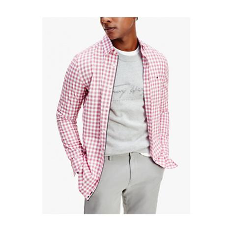 Tommy Hilfiger TH Flex Gingham Check Slim Fit Shirt, Classic Pink/Multi