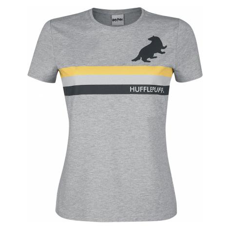Harry Potter - Hufflepuff - Stripes - Girls shirt - mottled grey