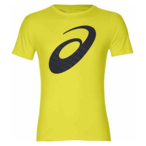 Asics SILVER GRAPHIC SS TOP yellow - Men's running T-shirt