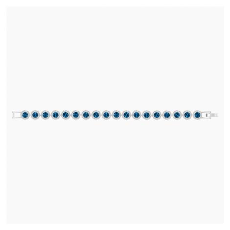 Angelic Bracelet, Blue, Rhodium plated Swarovski