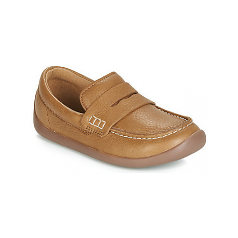 Clarks ArtistStride K girls's Children's Loafers / Casual Shoes in Brown