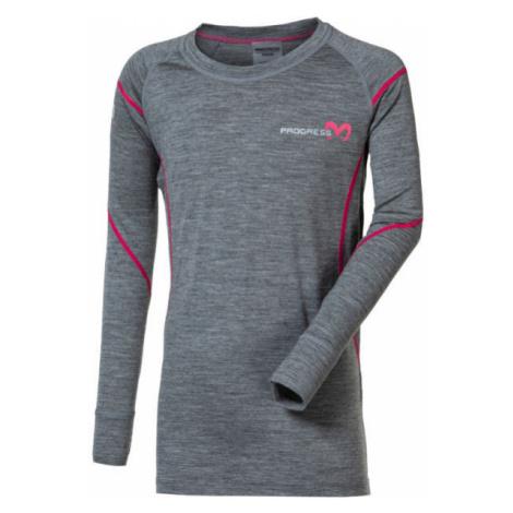 Progress MERINO LS-G - Girls' functional T-shirt with merino wool