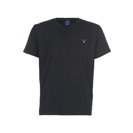 Gant THE ORIGINAL SOLID T-SHIRT men's T shirt in Black