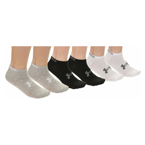 socks Under Armour Solid No Snow 6 Pack - 974/Black/White/Gray