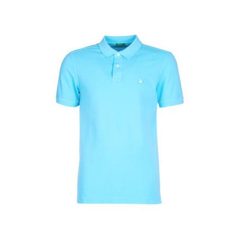 Benetton MADALO men's Polo shirt in Blue United Colors of Benetton