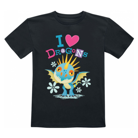 How to Train Your Dragon I Love Dragons T-Shirt black