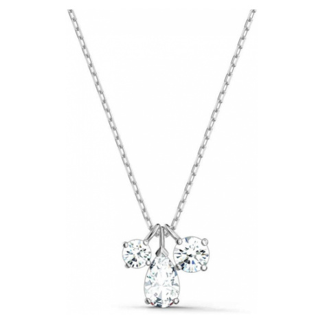 Swarovski Attract White Crystal Cluster Necklace