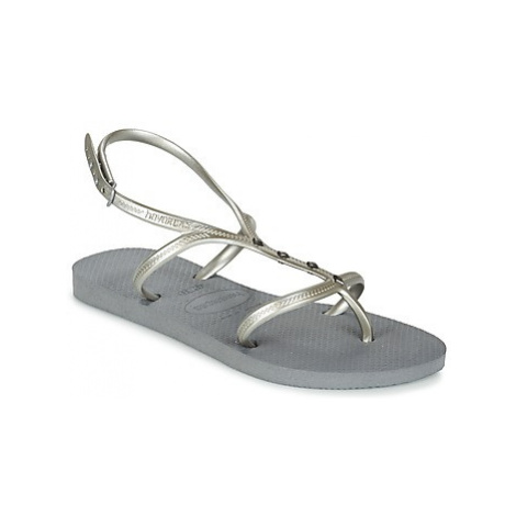 Havaianas ALLURE MAXI women's Flip flops / Sandals (Shoes) in Silver