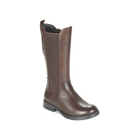 Geox SOFIA girls's Children's High Boots in Brown