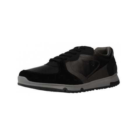 Geox U WILMER A men's Shoes (Trainers) in Black
