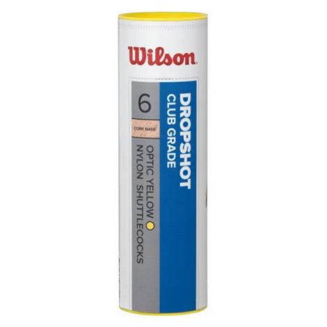 Wilson DROPSHOT 6 TUBE YE - Badminton shuttlecocks