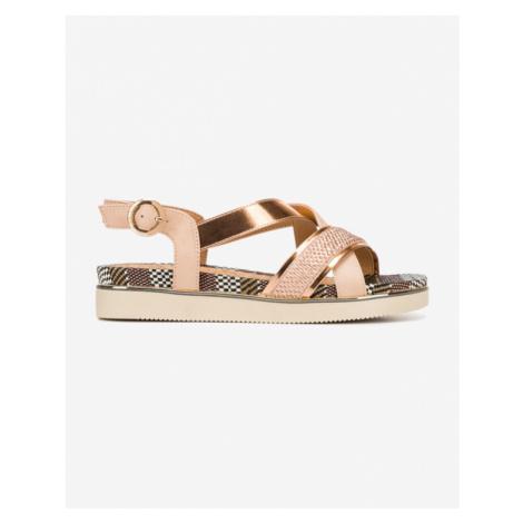 Wrangler Twist Karen Cross Sandals Black Pink