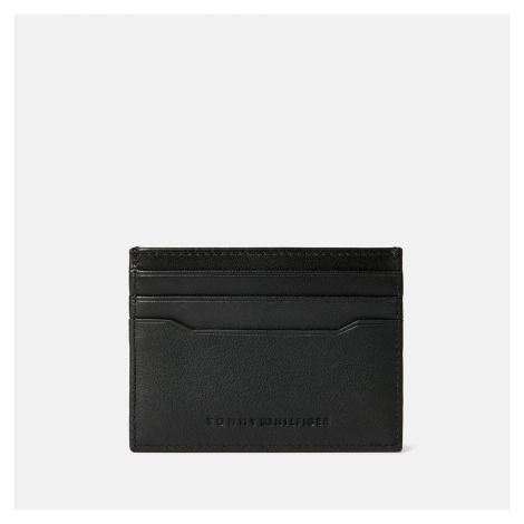 Tommy Hilfiger Men's Downtown Leather Cardholder - Black