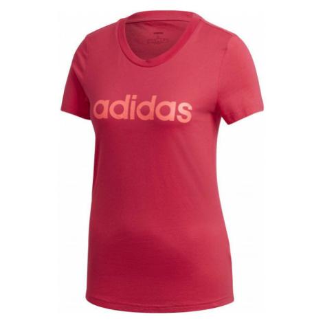 adidas E LIN SLIM TEE red - Women's T-shirt