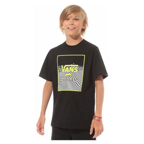 T-Shirt Vans Print Box - Black/Warp Check - boy´s