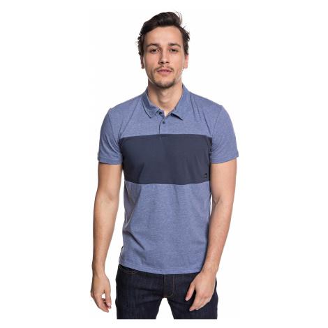 T-Shirt Quiksilver Kuju Polo - BNGH/Bijou Blue Heather - men´s