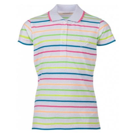 Lewro OPRAH white - Girls' polo shirt