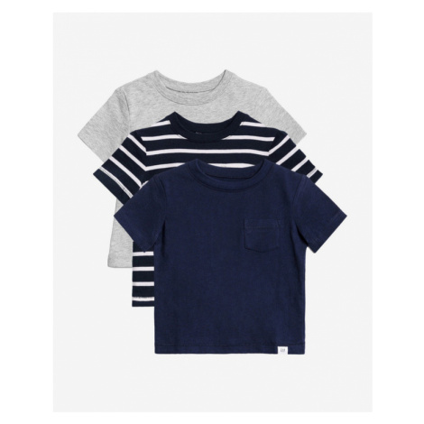 GAP Children's T-shirt 3 pcs Blue Grey