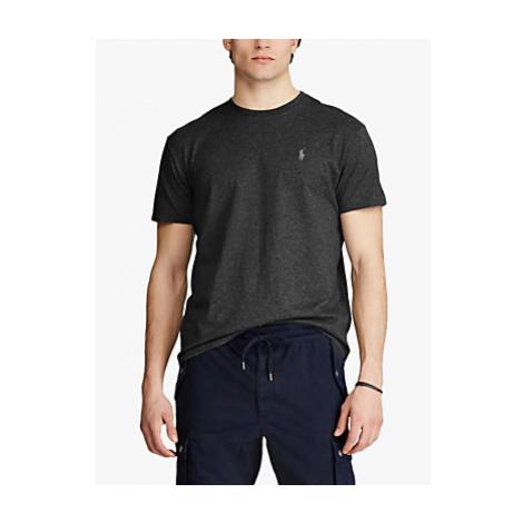 Polo Ralph Lauren Short Sleeve Custom Fit Crew Neck T-Shirt, Black Marl