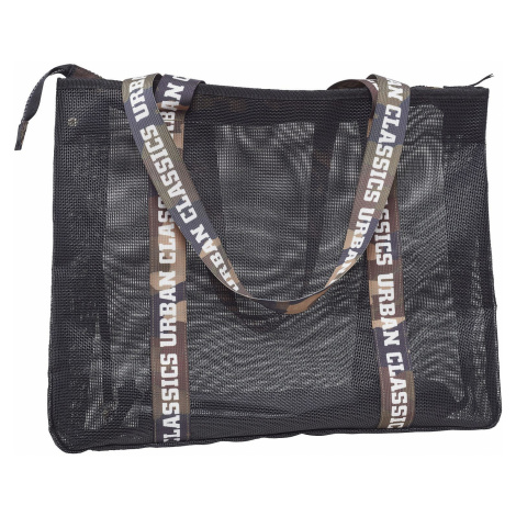 bag Urban Classics Big Mesh Shopper With/TB2151 - Black - women´s
