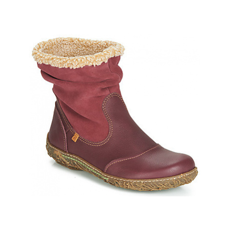 El Naturalista NIDO women's Mid Boots in Red
