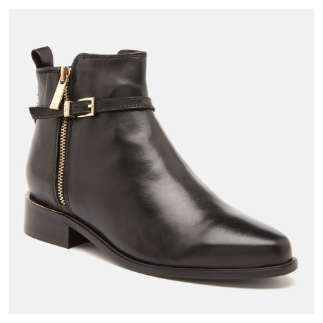 Dune Women's Pop Leather Ankle Boots - Black - UK