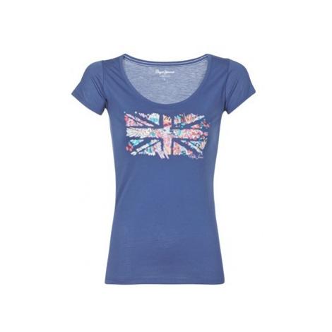 Pepe jeans CARA women's T shirt in Blue