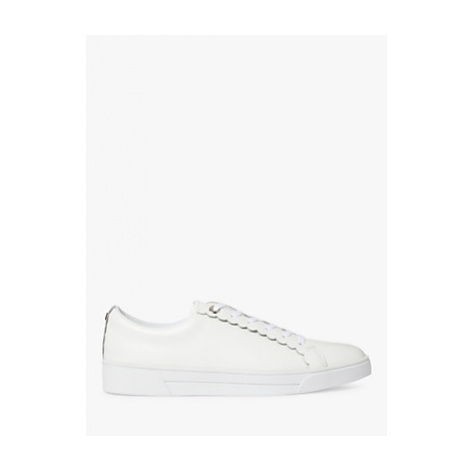 Ted Baker Tillys Leather Lace Up Trainers, White