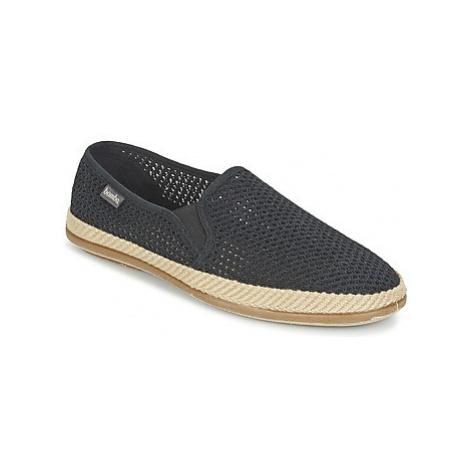 Black men's slip-on shoes