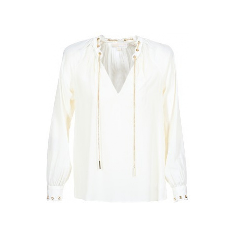 MICHAEL Michael Kors SCALLP GRMT CHAIN TOP women's Blouse in White