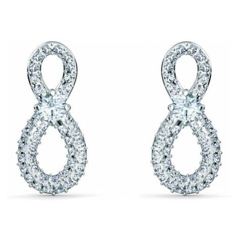 Swarovski Infinity White Crystal Earrings