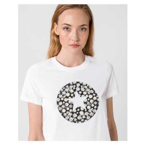 Converse Chuck Patch Daisy T-shirt White