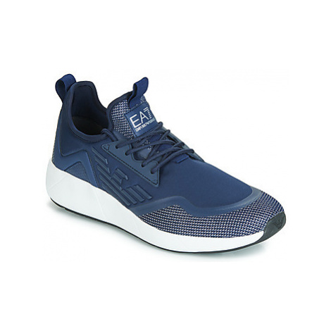 Emporio Armani EA7 MINIMAL SLIP ON U men's Shoes (Trainers) in Blue