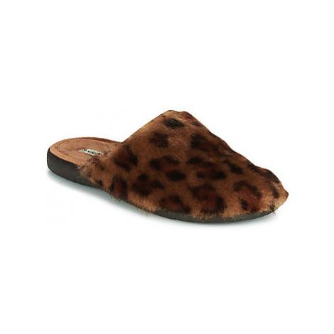 Victoria SIESTA PELO women's Slippers in Brown