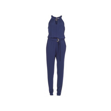 MICHAEL Michael Kors ELEV RING NECK JUMPSUIT women's Jumpsuit in Blue