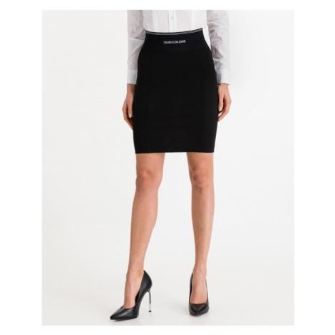 Calvin Klein Milano Bodycon Elastic Skirt Black