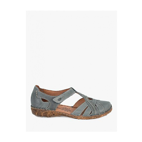 Josef Seibel Rosalie 29 Two Part T-Bar Casual Shoes, Jeans Leather