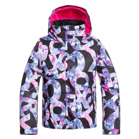 jacket Roxy Jetty - KVM5/True Black Famous Alphabet - girl´s
