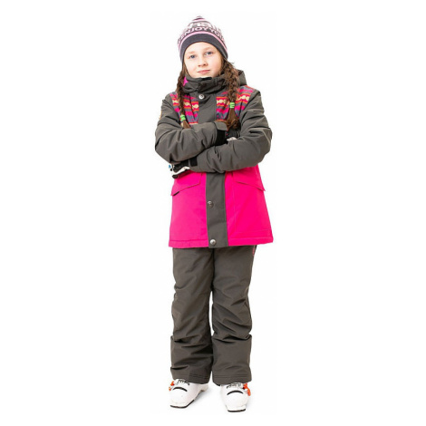 jacket Rehall Mood-R - Dotstripes Graphite - girl´s