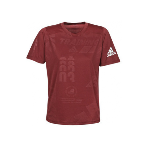 Adidas DAILY PRESS TEE men's T shirt in Red