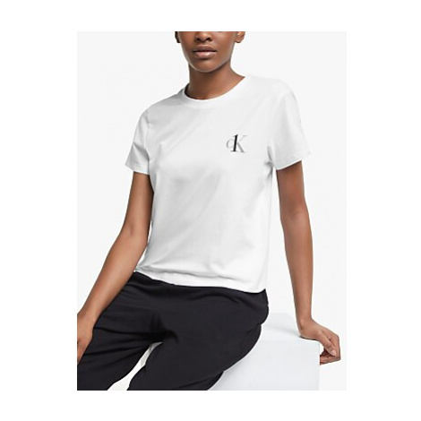 Calvin Klein Crew Neck Pyjama Top, White