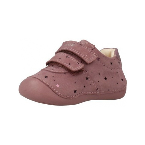 Geox B9440B girls's Children's Shoes (Trainers) in Pink
