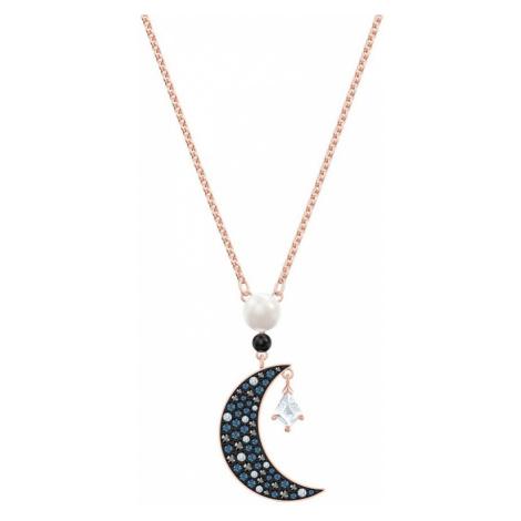 Swarovski Symbolic Dark Crystal Moon Necklace