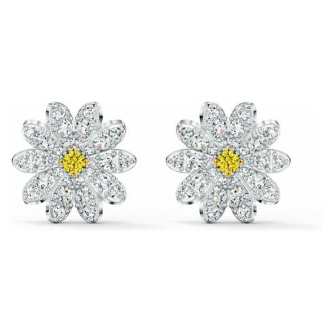 Swarovski Eternal Flower White & Yellow Crystal Earrings