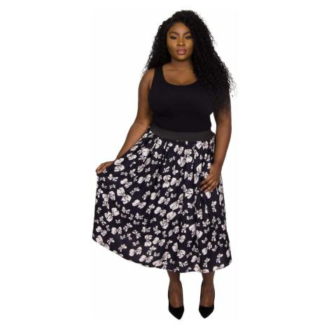 Original Bow Print Full Skirt - NAVY/IVORY Scarlett & Jo