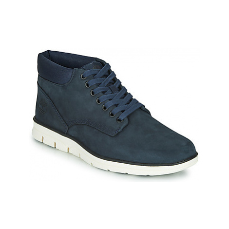 Timberland BRADSTREET CHUKKA LEATHER men's Shoes (High-top Trainers) in Blue