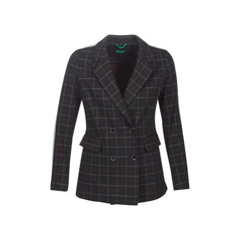 Benetton SUDIDEL women's Coat in Black United Colors of Benetton