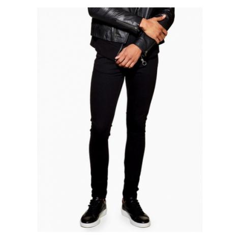Mens Black Spray On Skinny Jeans, Black Topman