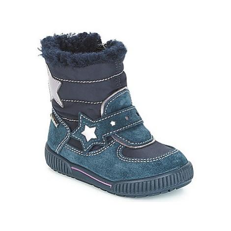 Blue girls' winter shoes